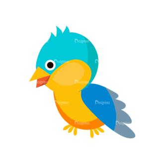 Cartoon Vector Animals Set 1 Vector Bird Clip Art - SVG & PNG vector