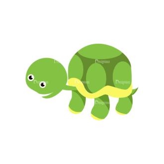 Cartoon Vector Animals Set 1 Vector Turtle Clip Art - SVG & PNG vector