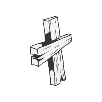 Crosses Vector 1 10 Clip Art - SVG & PNG vector