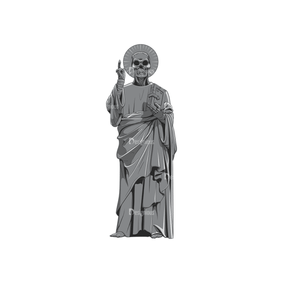 Dark Gothic Vector 1 2 Clip Art - SVG & PNG vector