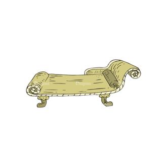 Engraved Vintage Furniture Vector Set 1 Vector Chair 06 Clip Art - SVG & PNG vector