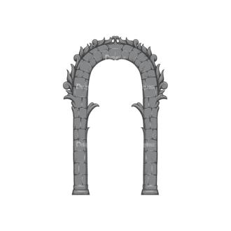 Gothic Vector 1 3 Clip Art - SVG & PNG vector