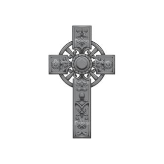 Gothic Vector 1 4 Clip Art - SVG & PNG vector