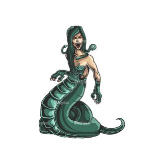 Greek Mythological Creature Vector 2 6 Clip Art - SVG & PNG vector
