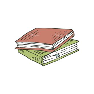 Hand Drawn School Vector Set 1 Vector Books Clip Art - SVG & PNG vector