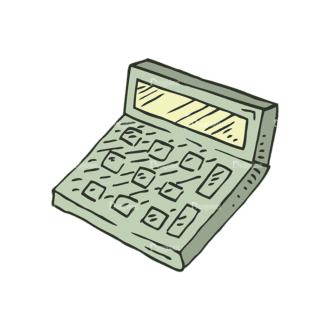 Hand Drawn School Vector Set 1 Vector Calculator Clip Art - SVG & PNG vector
