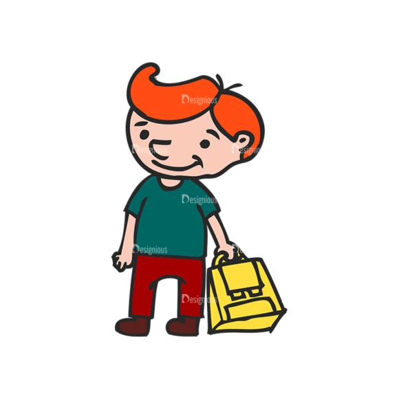 Kids School Vector Set 1 Vector Kids 03 Clip Art - SVG & PNG vector