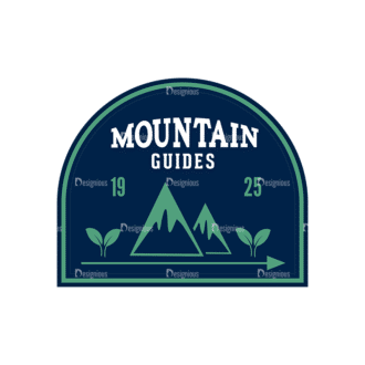 Outdoor Adventure Badges Vector Set 1 Vector Badges 02 Clip Art - SVG & PNG vector