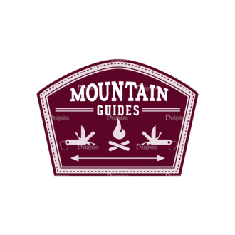 Outdoor Adventure Badges Vector Set 1 Vector Badges 07 Clip Art - SVG & PNG vector