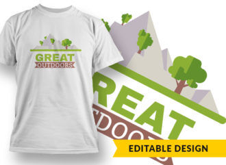Great Outdoors T-shirt Designs and Templates tree