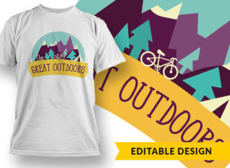 The Great Outdoors T-shirt Designs and Templates vector