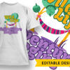 Work All Day, Sleep All Night T-shirt Designs and Templates vector