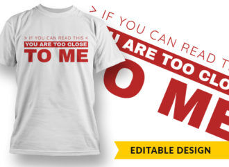 If You Can Read This T-shirt Designs and Templates vector