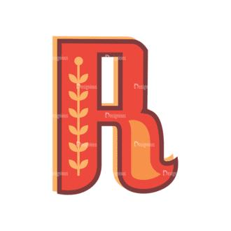 Retro Alphabet Set 8 Vector Alphabet 18 Clip Art - SVG & PNG vector