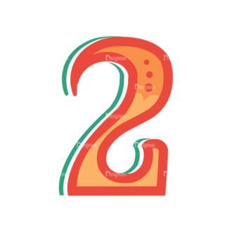 Retro Alphabet Set 8 Vector Number 28 Clip Art - SVG & PNG vector