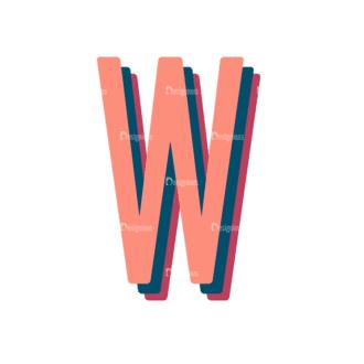 Retro Typography Vector Set 10 Vector Alphabet 23 Clip Art - SVG & PNG vector