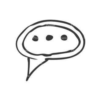 School Doodle Vector Set 1 Vector Speech Bubble Clip Art - SVG & PNG vector