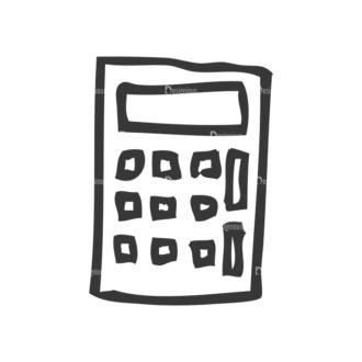 School Doodle Vector Set 1 Vector Calculator 20 Clip Art - SVG & PNG vector