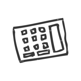School Doodle Vector Set 1 Vector Calculator 41 Clip Art - SVG & PNG vector