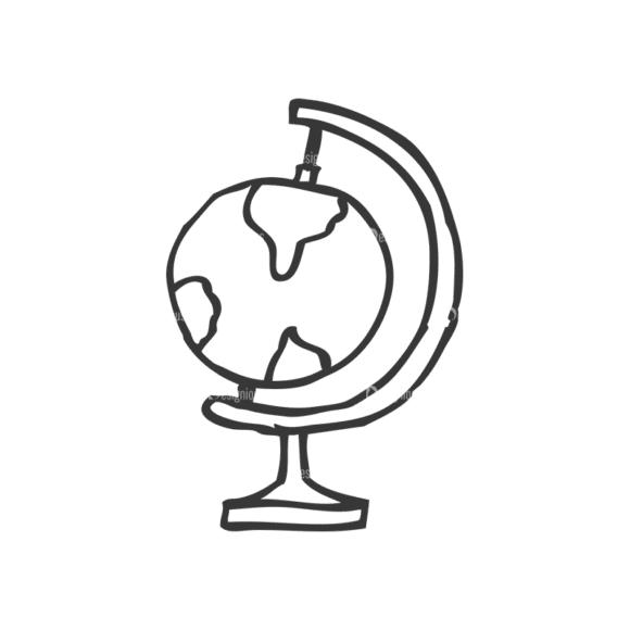 School Doodle Vector Set 1 Vector Globe Clip Art - SVG & PNG vector