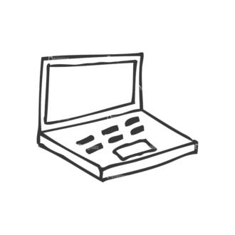 School Doodle Vector Set 1 Vector Laptop Clip Art - SVG & PNG vector