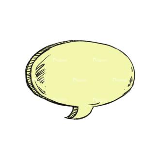 Scribbled Speech Bubbles Vector Speech Bubble 01 Clip Art - SVG & PNG vector