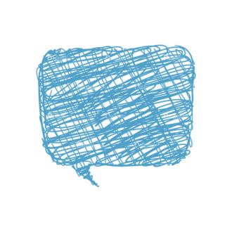 Scribbled Speech Bubbles Vector Speech Bubble 02 Clip Art - SVG & PNG vector