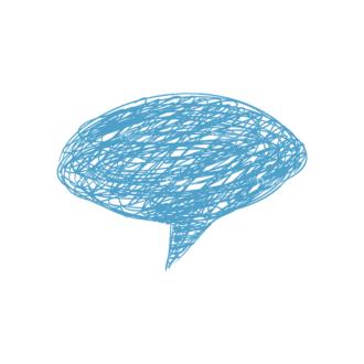 Scribbled Speech Bubbles Vector Speech Bubble 03 Clip Art - SVG & PNG vector