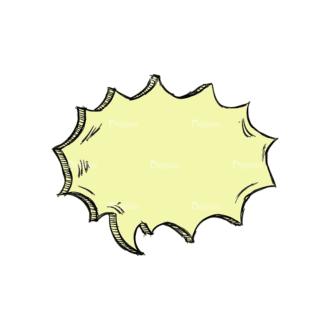 Scribbled Speech Bubbles Vector Speech Bubble 04 Clip Art - SVG & PNG vector