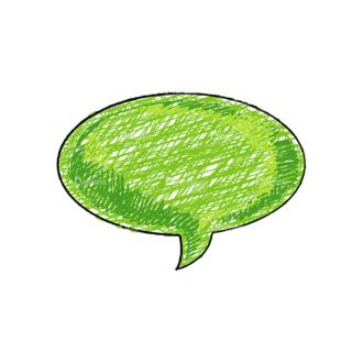 Scribbled Speech Bubbles Vector Speech Bubble 09 Clip Art - SVG & PNG vector