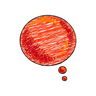 Scribbled Speech Bubbles Vector Speech Bubble 11 Clip Art - SVG & PNG vector