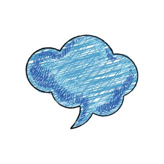Scribbled Speech Bubbles Vector Speech Bubble 12 Clip Art - SVG & PNG vector