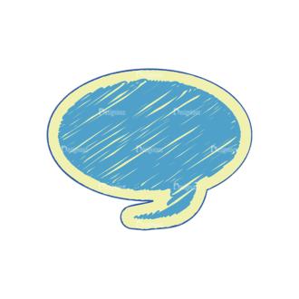 Scribbled Speech Bubbles Vector Speech Bubble 13 Clip Art - SVG & PNG vector