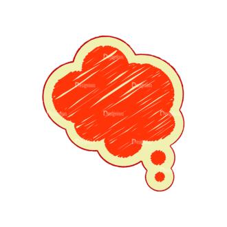 Scribbled Speech Bubbles Vector Speech Bubble 14 Clip Art - SVG & PNG vector