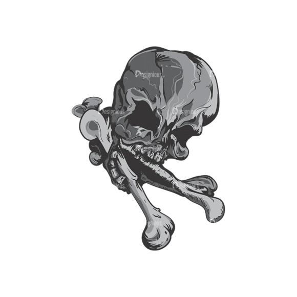 Skull Vector Clipart 1-13 Clip Art - SVG & PNG vector