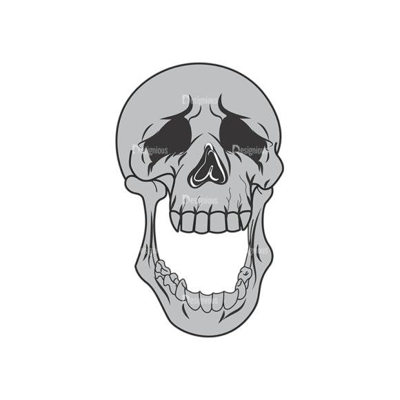 Skull Vector Clipart 1-15 Clip Art - SVG & PNG vector