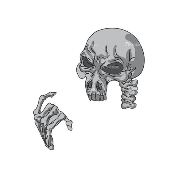 Skull Vector Clipart 1-4 Clip Art - SVG & PNG vector