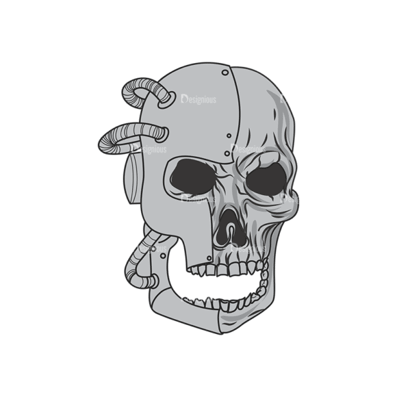 Skull Vector Clipart 1-7 Clip Art - SVG & PNG vector