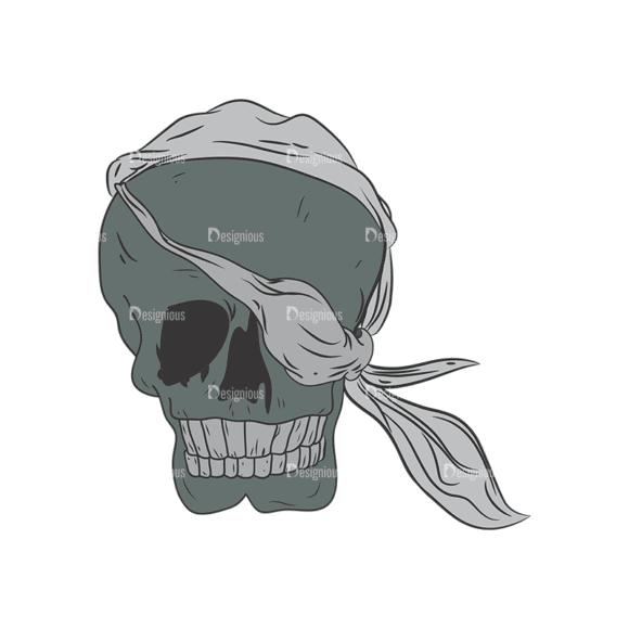 Skull Vector Clipart 1-8 Clip Art - SVG & PNG vector