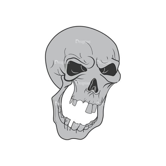 Skull Vector Clipart 1-9 Clip Art - SVG & PNG vector