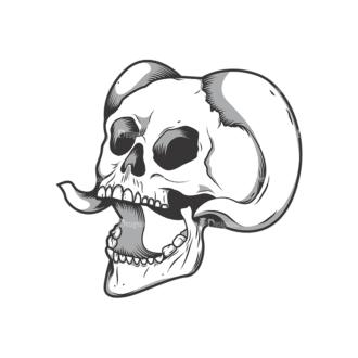 Skull Vector Clipart 10-6 Clip Art - SVG & PNG vector