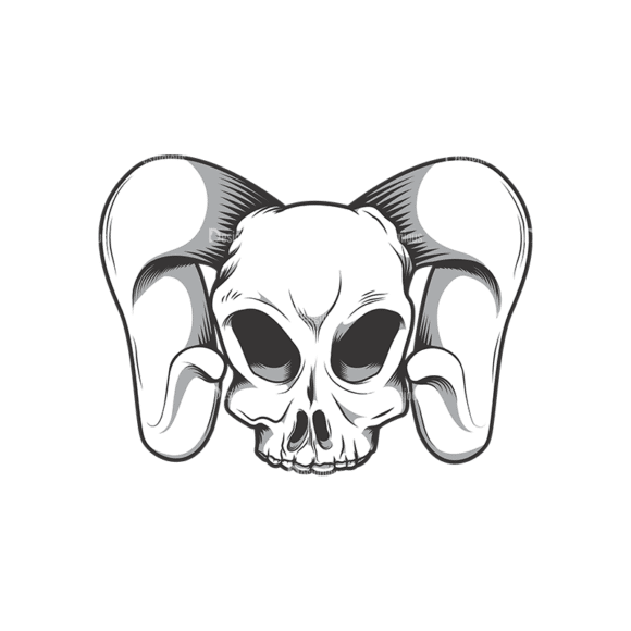 Skull Vector Clipart 10-8 Clip Art - SVG & PNG vector