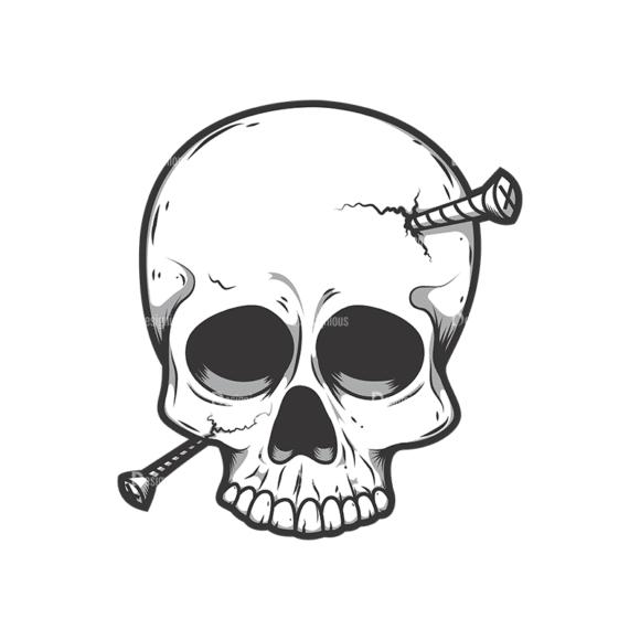 Skull Vector Clipart 11-5 Clip Art - SVG & PNG vector