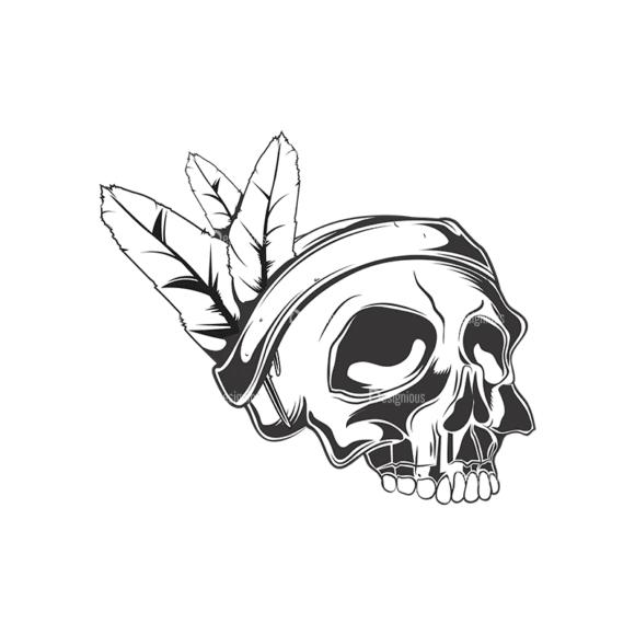 Skull Vector Clipart 15-3 Clip Art - SVG & PNG vector