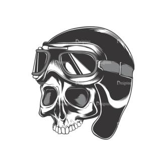Skull Vector Clipart 17-6 Clip Art - SVG & PNG vector
