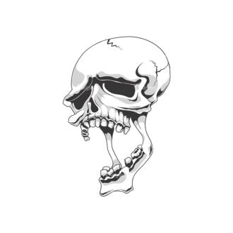 Skull Vector Clipart 18-3 Clip Art - SVG & PNG vector