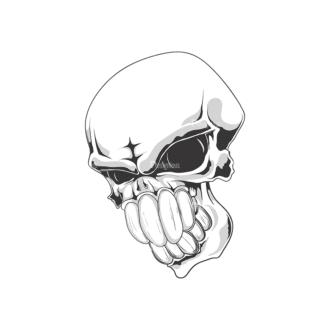 Skull Vector Clipart 18-9 Clip Art - SVG & PNG vector