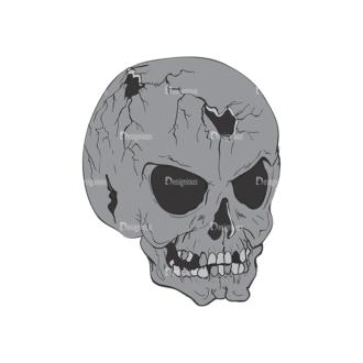 Skull Vector Clipart 2-13 Clip Art - SVG & PNG vector
