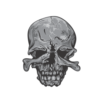 Skull Vector Clipart 2-6 Clip Art - SVG & PNG vector