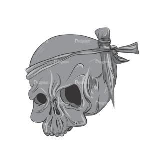Skull Vector Clipart 2-7 Clip Art - SVG & PNG vector